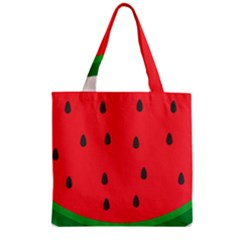 Watermelon Fruit Zipper Grocery Tote Bag