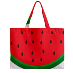 Watermelon Fruit Zipper Mini Tote Bag
