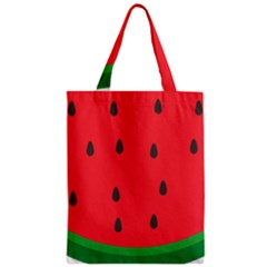 Watermelon Fruit Zipper Classic Tote Bag