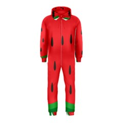 Watermelon Fruit Hooded Jumpsuit (Kids)