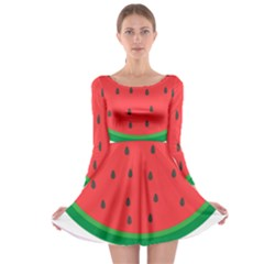 Watermelon Fruit Long Sleeve Skater Dress