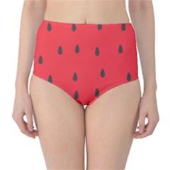 Watermelon Fruit High-Waist Bikini Bottoms