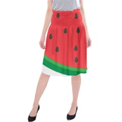 Watermelon Fruit Midi Beach Skirt