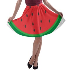 Watermelon Fruit A-line Skater Skirt