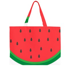 Watermelon Fruit Large Tote Bag