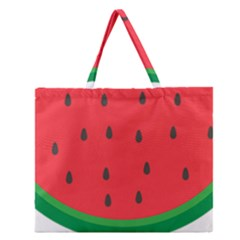 Watermelon Fruit Zipper Large Tote Bag