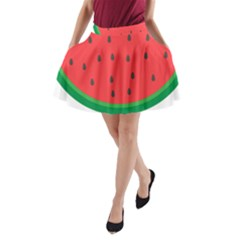 Watermelon Fruit A-Line Pocket Skirt