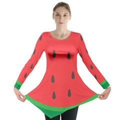 Watermelon Fruit Long Sleeve Tunic