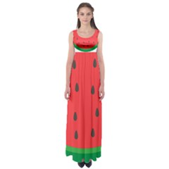 Watermelon Fruit Empire Waist Maxi Dress
