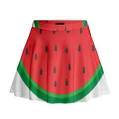 Watermelon Fruit Mini Flare Skirt