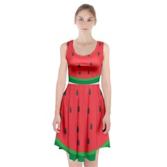 Watermelon Fruit Racerback Midi Dress