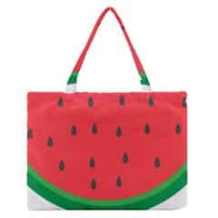 Watermelon Fruit Medium Zipper Tote Bag