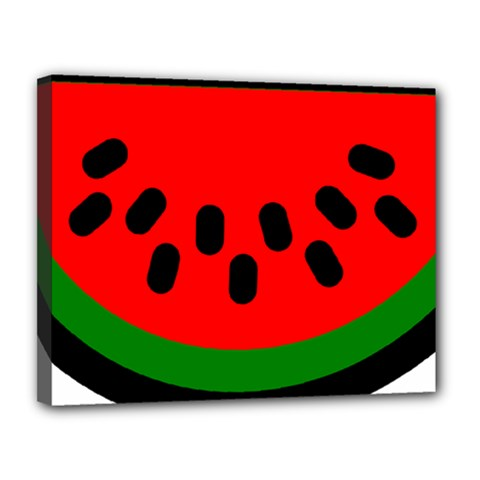 Watermelon Melon Seeds Produce Canvas 14  x 11