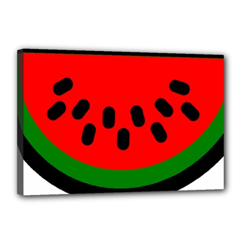 Watermelon Melon Seeds Produce Canvas 18  x 12