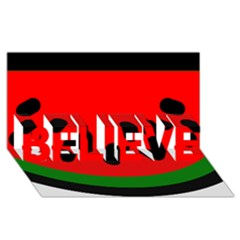 Watermelon Melon Seeds Produce BELIEVE 3D Greeting Card (8x4)