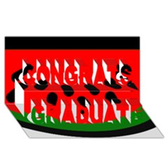 Watermelon Melon Seeds Produce Congrats Graduate 3D Greeting Card (8x4)