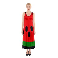 Watermelon Melon Seeds Produce Sleeveless Maxi Dress
