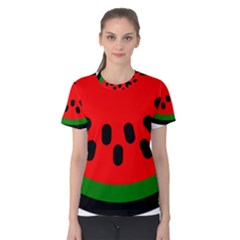 Watermelon Melon Seeds Produce Women s Cotton Tee
