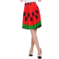 Watermelon Melon Seeds Produce A-Line Skirt