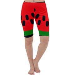 Watermelon Melon Seeds Produce Cropped Leggings