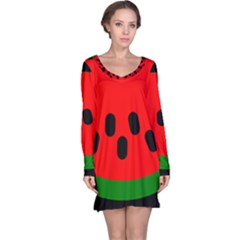 Watermelon Melon Seeds Produce Long Sleeve Nightdress