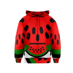 Watermelon Melon Seeds Produce Kids  Zipper Hoodie
