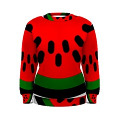Watermelon Melon Seeds Produce Women s Sweatshirt