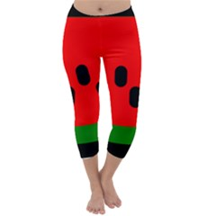 Watermelon Melon Seeds Produce Capri Winter Leggings