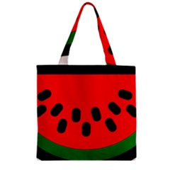 Watermelon Melon Seeds Produce Zipper Grocery Tote Bag
