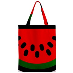 Watermelon Melon Seeds Produce Zipper Classic Tote Bag