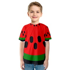 Watermelon Melon Seeds Produce Kids  Sport Mesh Tee