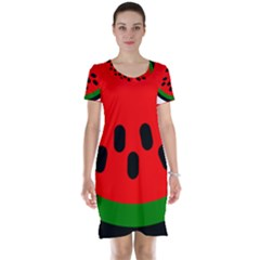 Watermelon Melon Seeds Produce Short Sleeve Nightdress