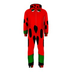 Watermelon Melon Seeds Produce Hooded Jumpsuit (Kids)