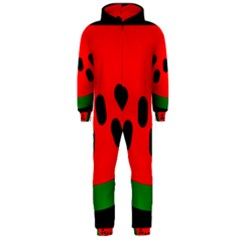 Watermelon Melon Seeds Produce Hooded Jumpsuit (Men)