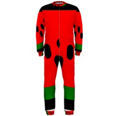 Watermelon Melon Seeds Produce OnePiece Jumpsuit (Men)