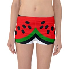 Watermelon Melon Seeds Produce Reversible Boyleg Bikini Bottoms
