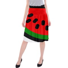 Watermelon Melon Seeds Produce Midi Beach Skirt