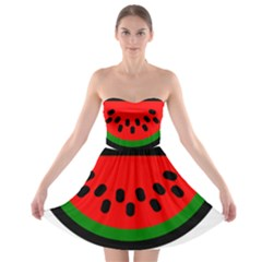 Watermelon Melon Seeds Produce Strapless Bra Top Dress