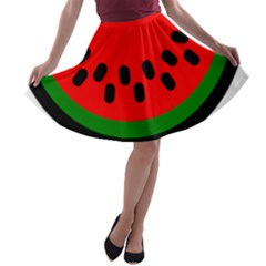 Watermelon Melon Seeds Produce A-line Skater Skirt