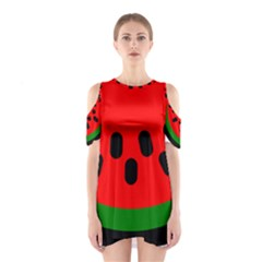 Watermelon Melon Seeds Produce Cutout Shoulder Dress
