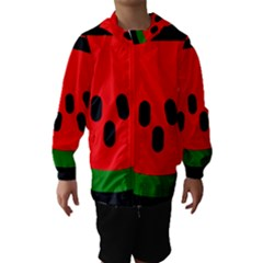 Watermelon Melon Seeds Produce Hooded Wind Breaker (Kids)