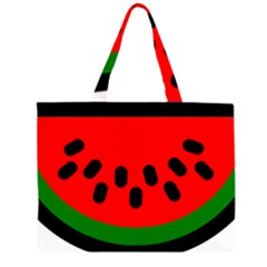 Watermelon Melon Seeds Produce Large Tote Bag