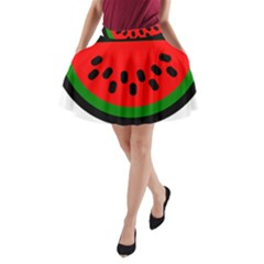 Watermelon Melon Seeds Produce A-Line Pocket Skirt