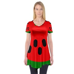 Watermelon Melon Seeds Produce Short Sleeve Tunic