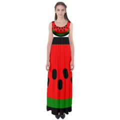 Watermelon Melon Seeds Produce Empire Waist Maxi Dress