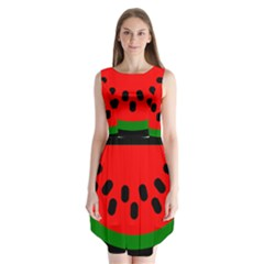 Watermelon Melon Seeds Produce Sleeveless Chiffon Dress