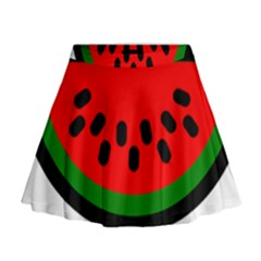 Watermelon Melon Seeds Produce Mini Flare Skirt