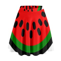 Watermelon Melon Seeds Produce High Waist Skirt