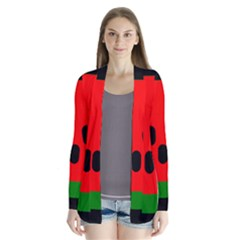 Watermelon Melon Seeds Produce Drape Collar Cardigan