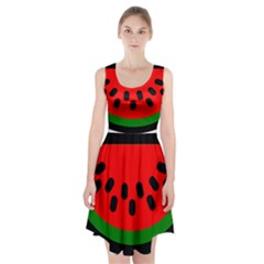 Watermelon Melon Seeds Produce Racerback Midi Dress